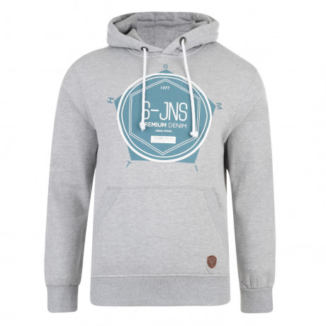 Smith & Jones Tavistock Hoodie Grey Marl