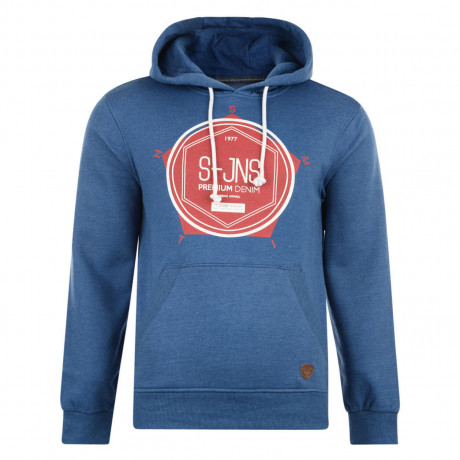 Smith & Jones Tavistock Hoodie True Blue Marl