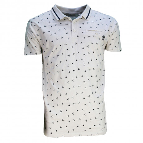Soul Star MT Shuriken Men's Polo Shirt Shirt Ecru