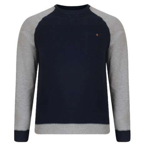 Dcode Crew Neck Two Tone Sweatshirt Light Grey Marl