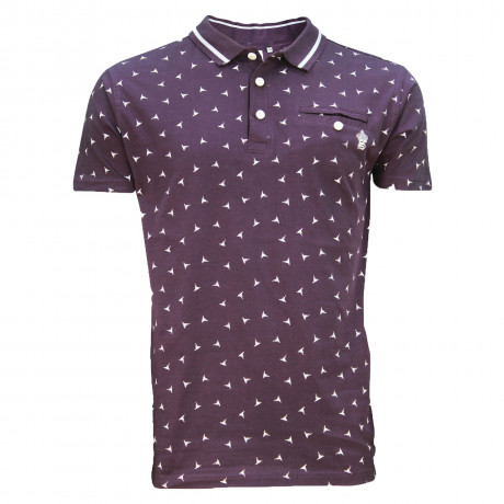 Soul Star MT Shuriken Men's Polo Shirt Shirt Plum