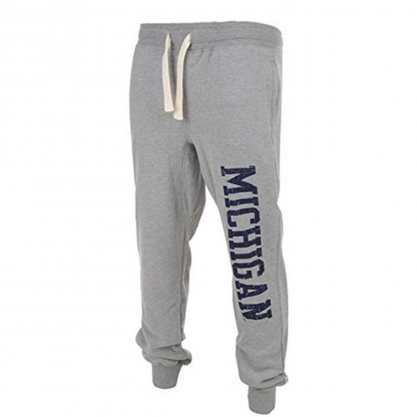 American Freshman Fleece Sweat Pants Fencepiece Michigan Bottoms Grey