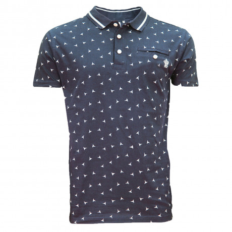 Soul Star MT Shuriken Men's Polo Shirt Shirt Navy