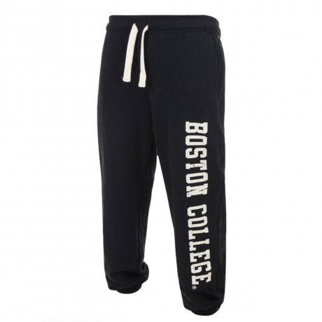 American Freshman Fleece Sweat Pants Boston College Bottoms Anthracite