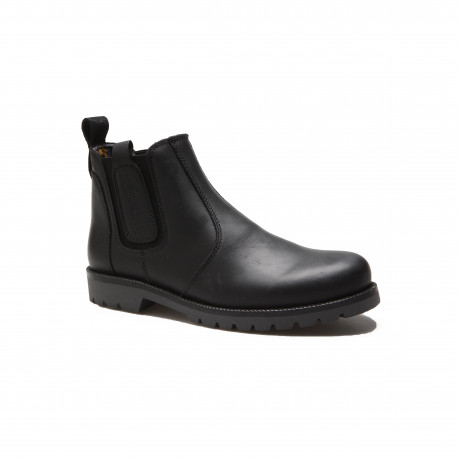 Wrangler Mens Newton Chelsea Leather Boots Black Shoes | Jean Scene