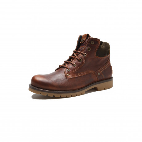 Wrangler Mens Newton Yuma Leather Boots Cognac Shoes | Jean Scene