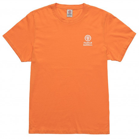 Franklin & Marshall Crew Neck Men's T-Shirt Bright Orange | Jean Scene