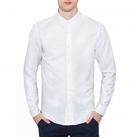 Timberland Oxford Slim Rattle Shirt Long Sleeve White | Jean Scene