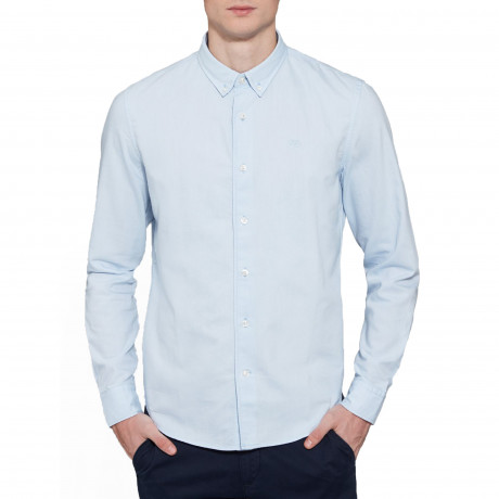 Timberland Oxford Slim Rattle Shirt Long Sleeve Skyway | Jean Scene
