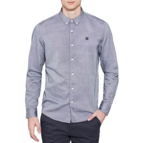 Timberland Oxford Slim Rattle Shirt Long Sleeve Dark Sapphire | Jean Scene