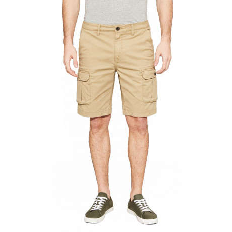 Timberland Lake Stretch Cotton Cargo Shorts British Khaki | Jean Scene