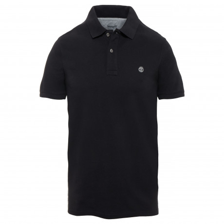 Timberland Millers Slim River Polo Shirt Long Sleeve Black | Jean Scene