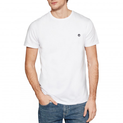 Timberland River Dunstan Regular Crew Neck T-Shirt Long Sleeve White | Jean Scene