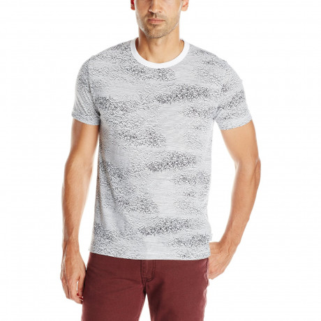 French Connection Scribbler Print Summer T-shirt White | Jean Scene