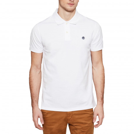 Timberland Millers Regular River Polo Shirt White | Jean Scene