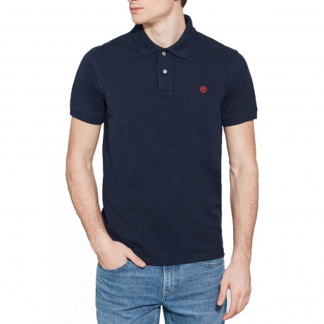 Timberland Millers Regular River Polo Shirt Long Sleeve Dark Sapphire | Jean Scene