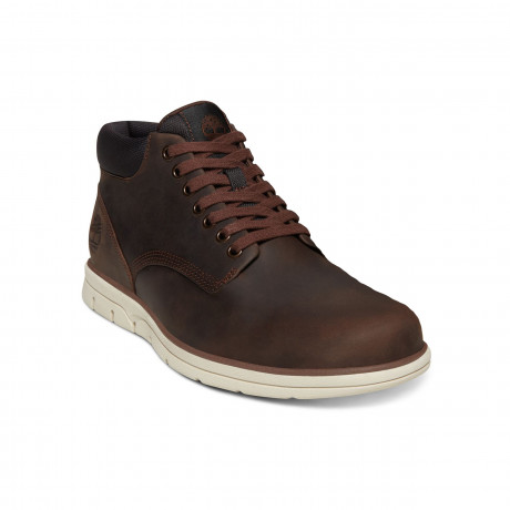 Timberland Mens Bradstreet Chukka Leather Boots Boots Dark Brown | Jean Scene