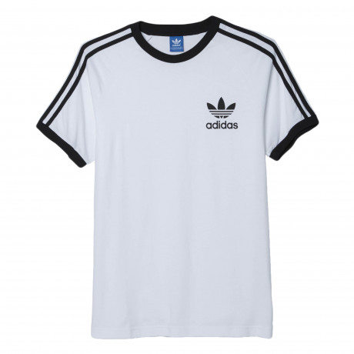 adidas Originals Crew Neck California Logo T-shirt White | Jean Scene