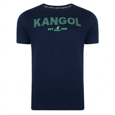 Kangol Crew Neck Logo T-shirt Navy Blue Image