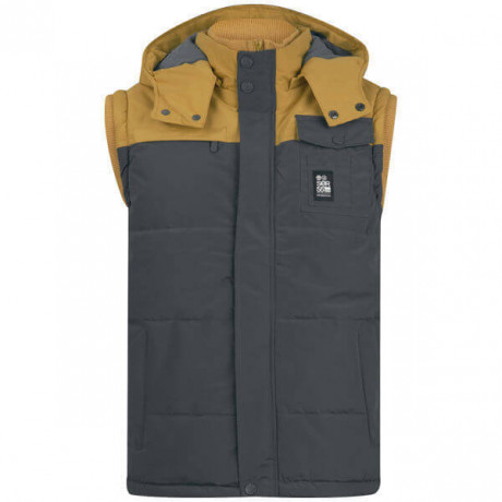 Crosshatch Padded Bodywarmer Gilet Grey Image