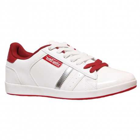 Ecko Low Sneaker Trainers White Red Image