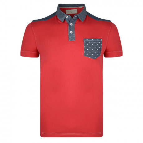 Conspiracy Rayful Polo Pique T-Shirt Red Marl Image