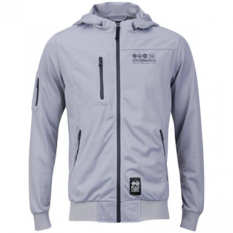 Crosshatch Tricot Track Jacket Light Grey Image
