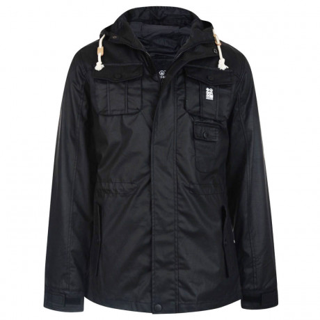 Crosshatch Forlocks Hooded Jacket Black Image