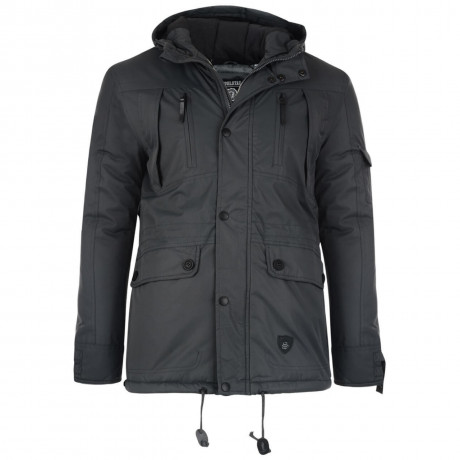 Soul Star Braggon Hooded Padded Jacket Charcoal Grey Image