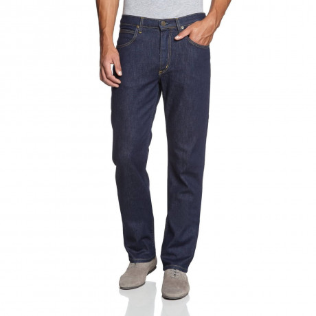 Lee Brooklyn Straight Denim Stretch Jeans One Wash Image
