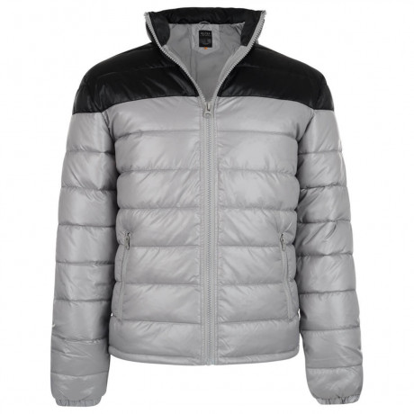 Blend Shiny Puffer Jacket Light Grey Image