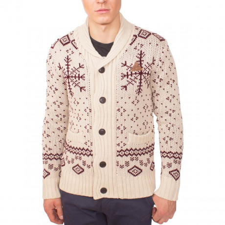Rock & Revival Heavy Knit Claus Cardigan Cream Image