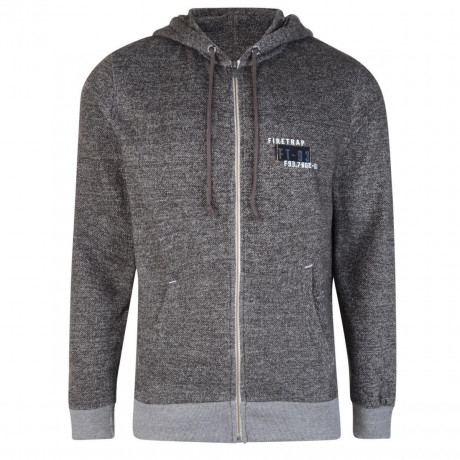 Firetrap Terront Hoodies Dark Shadow Image