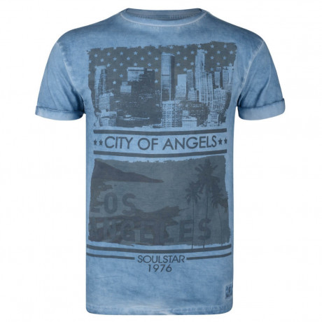 Soul Star Print T-shirt City of Angels Blue Image