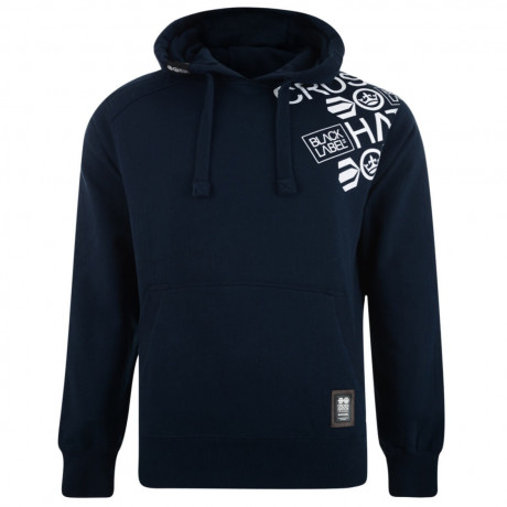 Crosshatch Millhouse Logo Hooded Sweatshirt Navy Image