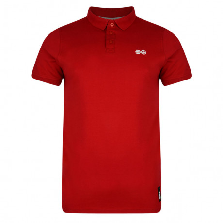 Crosshatch Bowden Polo Pique T-Shirt Tango Red Image