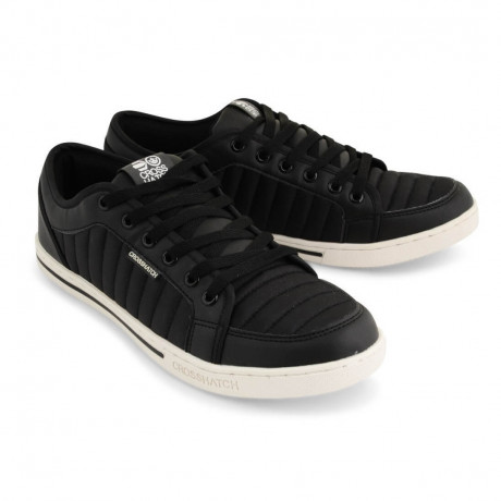 Crosshatch Quilted Trainers Black Shoes Image