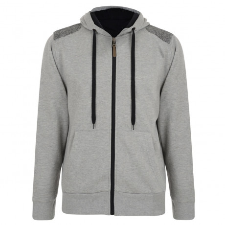 Conspiracy Hooded Sweatshirt Top Light Grey Image
