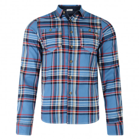 Lee Cooper Long Sleeve Check Shirt Blue Image