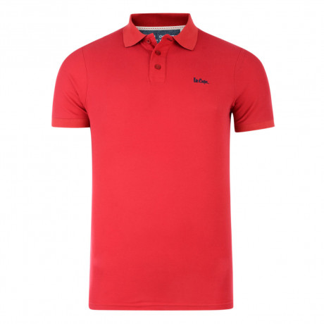 Lee Cooper Polo Pique T-Shirt Red Image