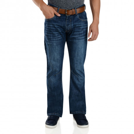 Crosshatch Straight Fit Rochester Jeans Faded Tint Image