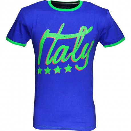 Soul Star Italy Signature T-shirt Blue Image