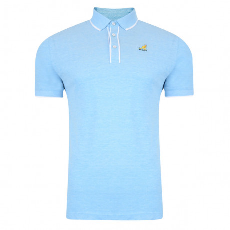 Kangol Polo Pique T-Shirt Hinton Sky Blue Marl Image