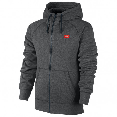 Nike Full Zip Hooded Sweatshirt Jacket Dark Grey Image