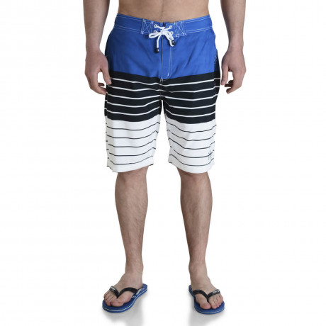Smith & Jones Beach Swim Shorts & Flip Flop Set Stripe Blue Image