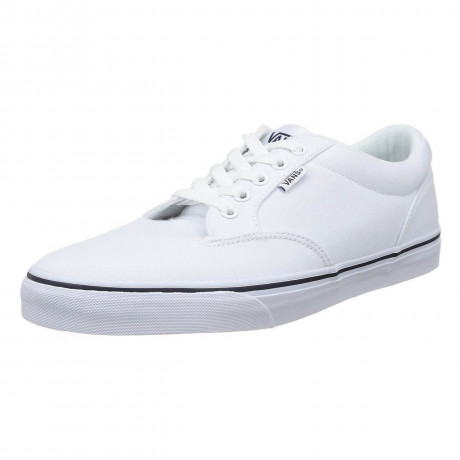 Vans Winston Canvas Trainers White Navy Image