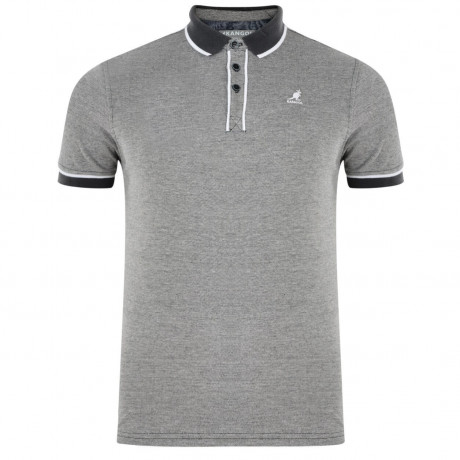 Kangol Hough Polo Pique T-Shirt Charcoal Grey Marl Image