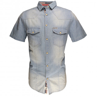 Soul Star Short Sleeve Shirt Light Blue Image
