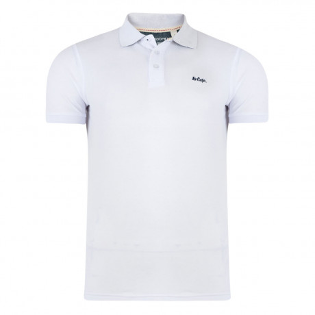 Lee Cooper Polo Pique T-Shirt White Image