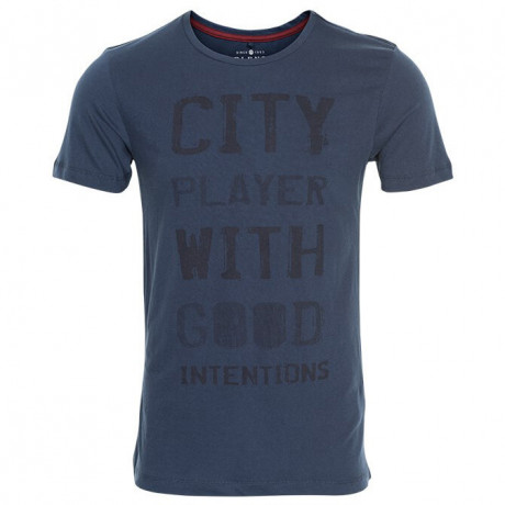 Blend City Player Print T-shirt Navy Blue Image